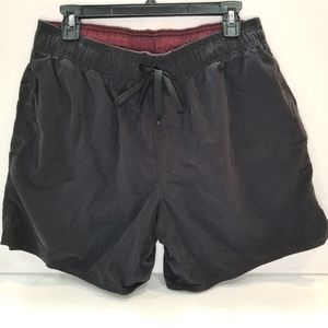 St. John's Bay Black Swimsuit Trunks Large